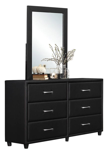 Home Elegance Lorenzi Black Dresser and Mirror HE-2220-DRMR