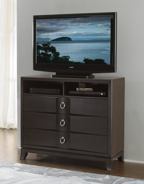 Edmonston Contemporary Rich Espresso Wood TV Chest HE-2222-11