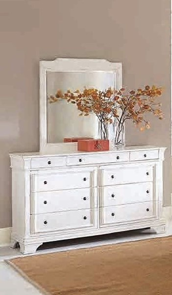 Derby Run Traditional White Wood Dresser HE-2223W-5