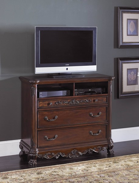 Deryn Park Traditional Cherry Wood TV Chest HE-2243-11
