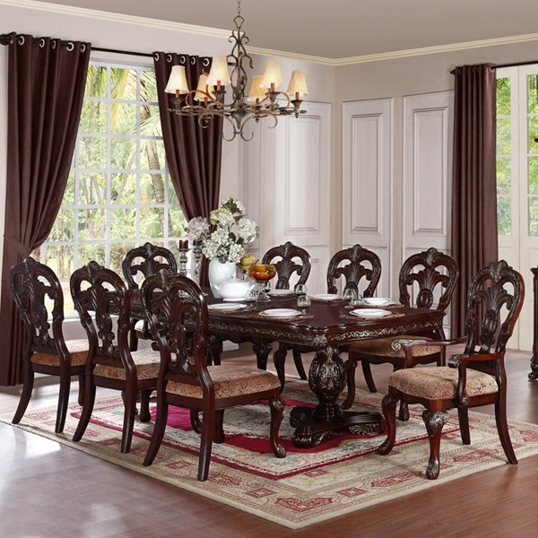 Deryn Park Traditional Cherry Wood Dining Table HE-2243-114