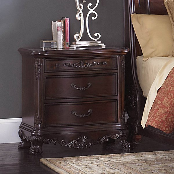 Deryn Park Traditional Cherry Wood Night Stand HE-2243-4