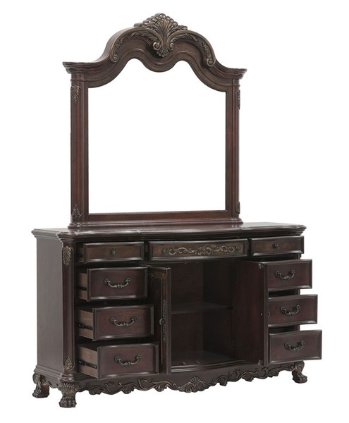 Home Elegance Deryn Park Dresser and Mirror HE-2243-DRMR