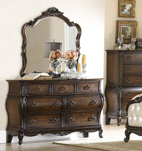 Home Elegance Bayard Park Dresser and Mirror HE-2274-DRMR