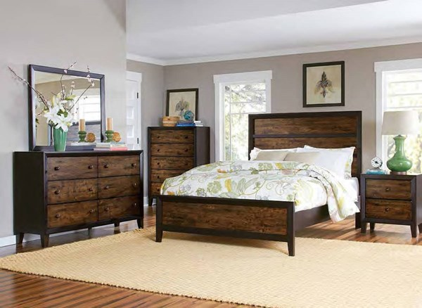 Arcola Transitional Espresso Wood Master Bedroom Set HE-2277-BR
