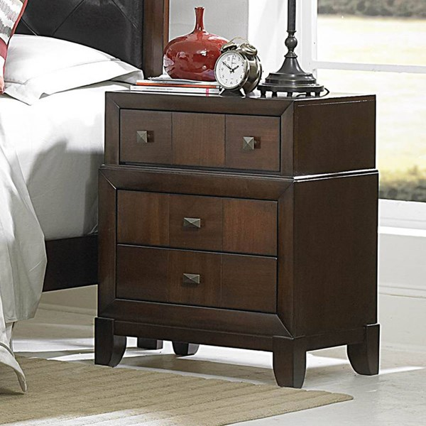 Carrie Ann Traditional Warm Cherry Wood Night Stand HE-2295-4