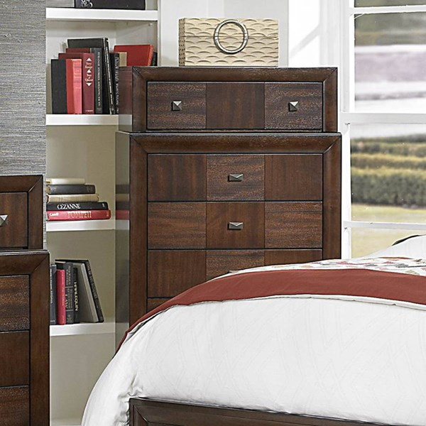 Carrie Ann Traditional Warm Cherry Wood Chest HE-2295-9