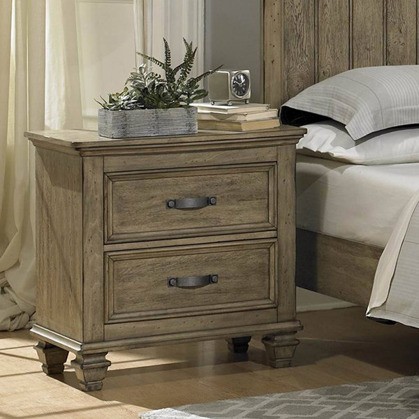 Sylvania Transitional Driftwood Wood Night Stand HE-2298-4
