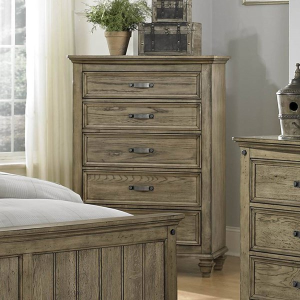 Sylvania Transitional Driftwood Wood Chest HE-2298-9