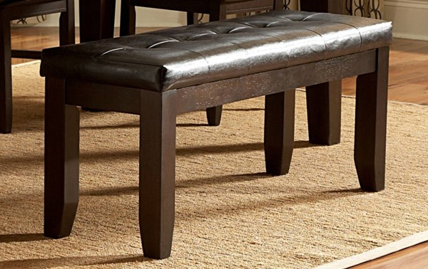 Hawn Casual Walnut Wood Vinyl Kitchen Bench HE-2438-13