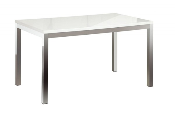 Clarice Contemporary White Metal Dining Table HE-2447