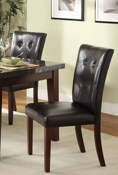2 Decatur Espresso Dark Brown Wood Fabric Counter Height Chairs HE-2456-24