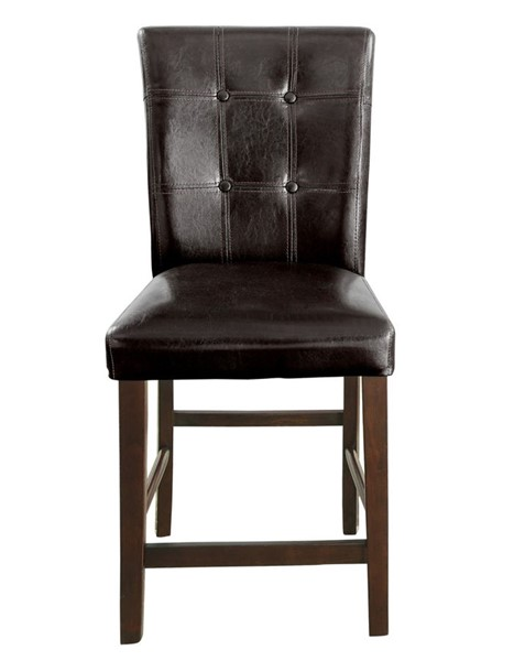 2 Home Elegance Decatur Espresso Counter Height Chairs HE-2456-24