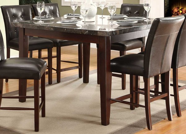 Decatur Espresso Dark Brown Wood Marble Counter Height Table HE-2456-36