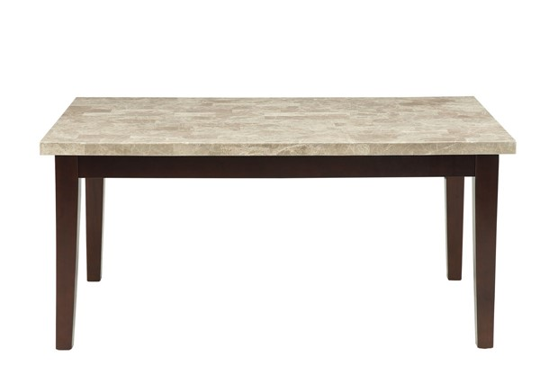 Home Elegance Decatur Espresso Dining Table with Marble Top HE-2456-64