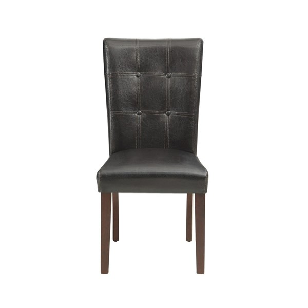 2 Home Elegance Decatur Espresso Side Chairs HE-2456S