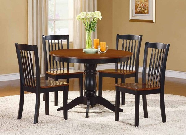 Home Elegance Andover Black 5pc Pack Dining Set HE-2458