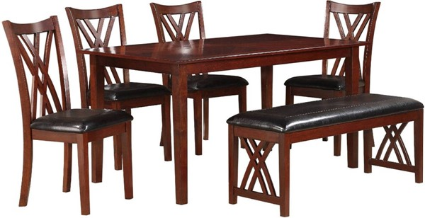 Home Elegance Brooksville 6pc Pack Dining Set HE-2459