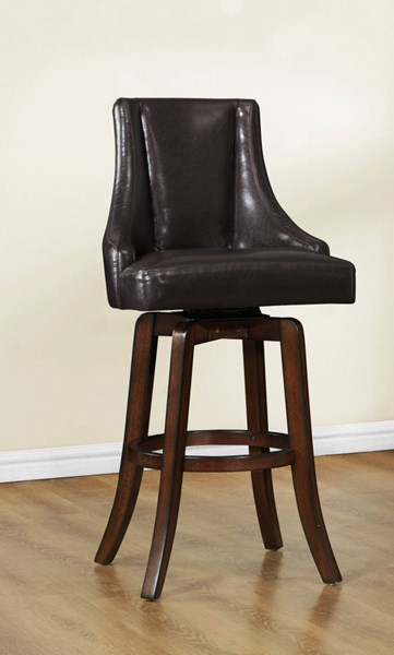 2 Home Elegance Annabelle Brown Pub Stools HE-2479-29BRS