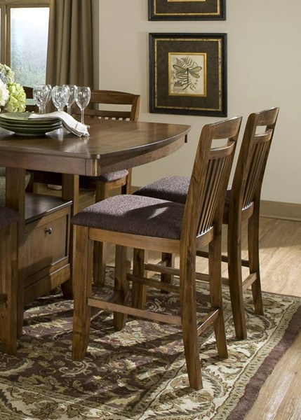 2 Home Elegance Marcel Oak Counter Height Chairs HE-2489-24