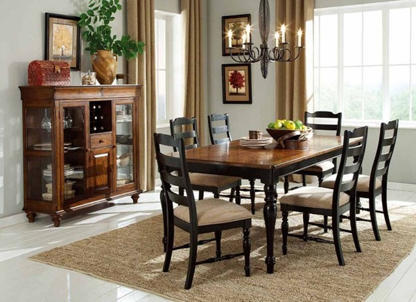 McKean Casual Black Wood Dining Room Set HE-2517-DR