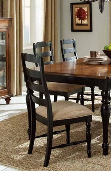 2 McKean Casual Black Wood Dining Room Chairs HE-2517S