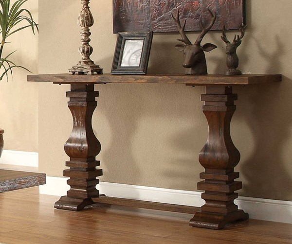 Marie Louise Traditional Brown Wood Sofa Table HE-2526-05