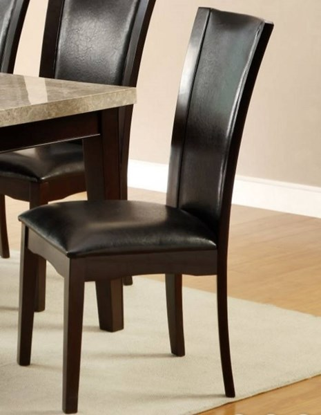 2 Hahn Transitional Espresso Dark Brown Wood Upholstered Side Chairs HE-2529S