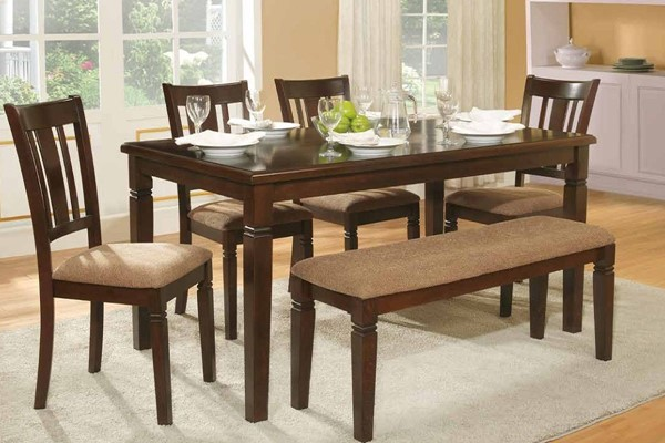 Devlin Transitional Espresso Wood Dining Table HE-2538-60