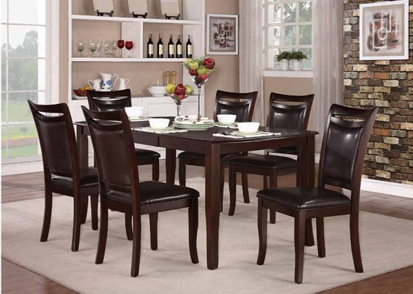 Maeve Dark Cherry Wood Rectangle Dining Table HE-2547-72