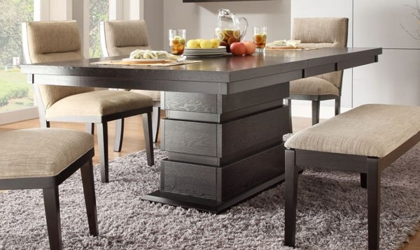 Tanager Contemporary Dark Espresso Wood Dining Table HE-2549-78