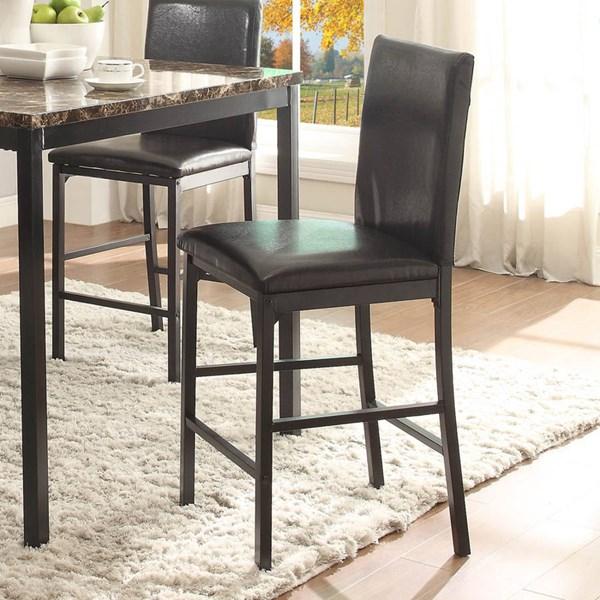 4 Tempe Transitional Black Metal Bi-Cast Vinyl Counter Height Chairs HE-2601-24