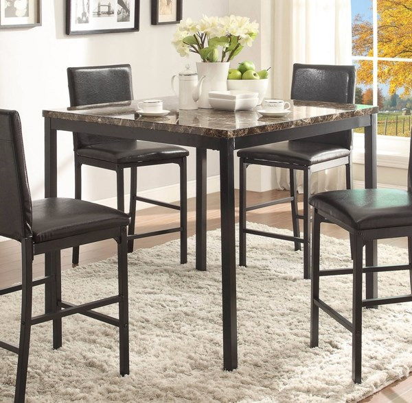 Tempe Transitional Black Metal Counter Height Table HE-2601-36