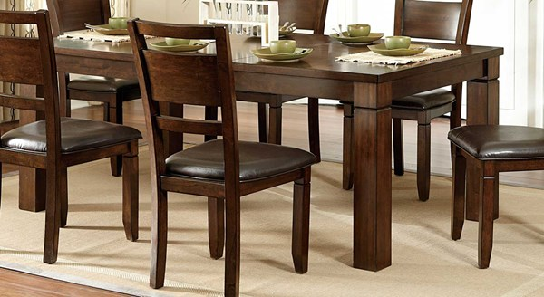Finnian Contemporary Warm Walnut Wood Dining Table HE-2608-78