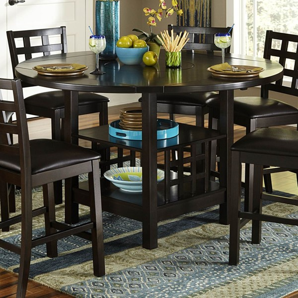 Glendine Transitional Dark Espresso Wood Counter Height Table HE-2611-36