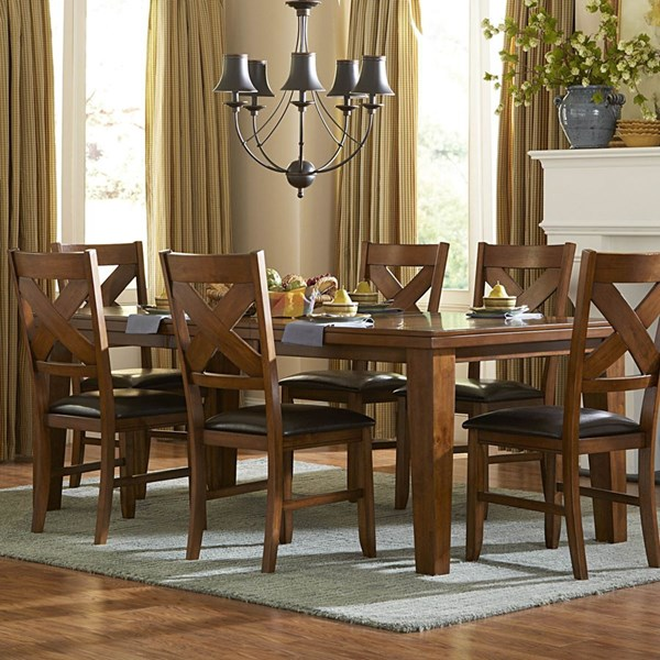 Silverton Casual Warm Brown Cherry Wood Dining Table HE-2612-82
