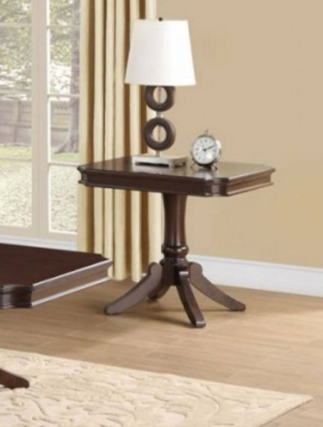 Marston Classic Dark Cherry Wood Rectangle End Table HE-2615DC-04RT