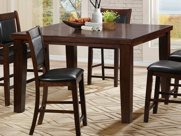 Weldon Transitional Dark Cherry Wood Counter Height Table HE-2622-36