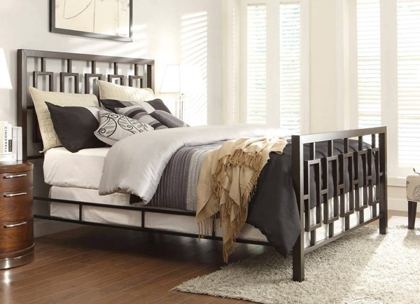Zelda Traditional Brushed Brown Metal Beds HE-2865-BEDS