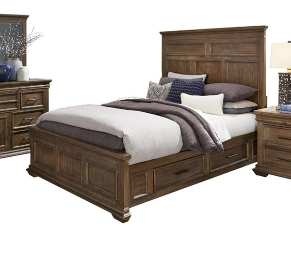 Home Elegance Narcine Weathered Gray Beds HE-292B-BEDS