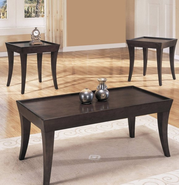 Zen Contemporary Espresso Wood 3 in 1 Pack Occasional Table HE-3216B-31