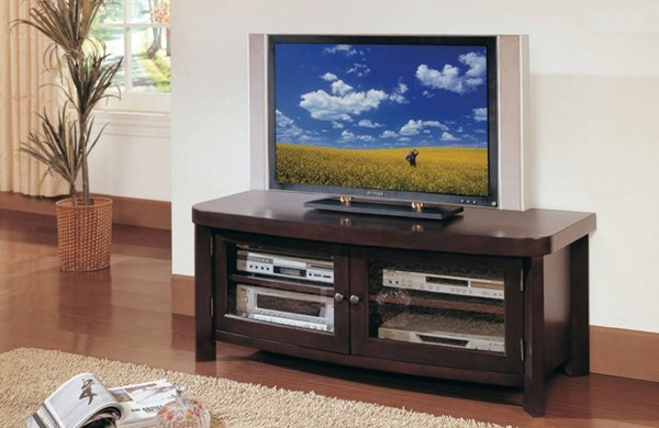 Brussel Contemporary Espresso Wood Glass TV Stand HE-32190-T