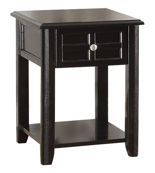 Home Elegance Carrier Chairside Table with Drawer HE-3257RF-02