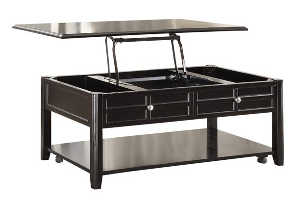 Home Elegance Carrier Cocktail Table with Lift Top on Casters HE-3257RF-30