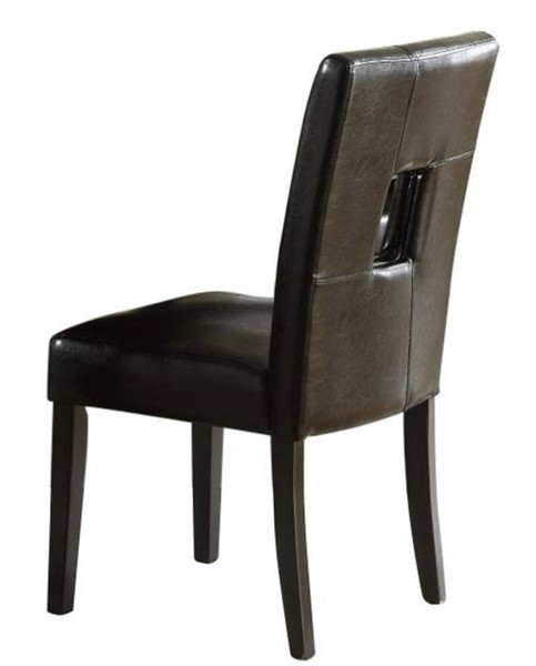 2 Archstone Black Wood Vinyl Counter Height Chairs HE-3270-24S1BK
