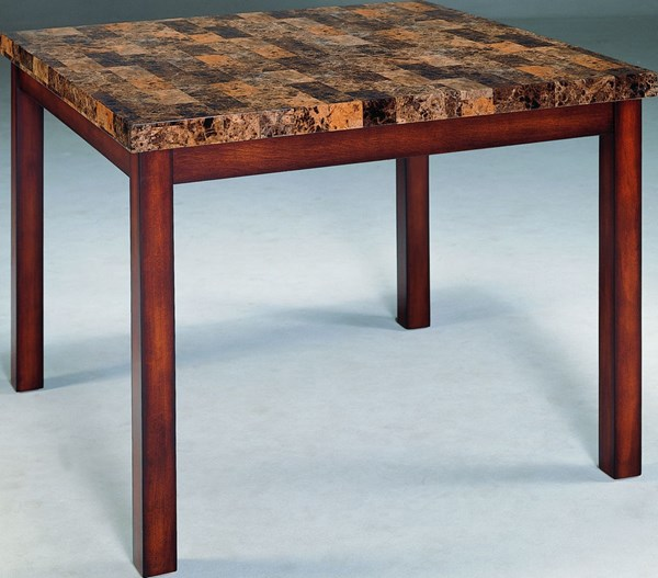 Achillea Cherry Wood Faux Marble Counter Height Table HE-3273-36