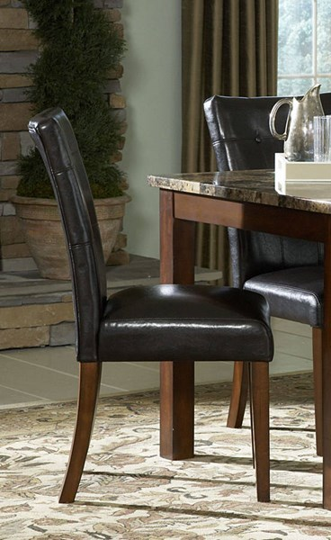 2 Achillea Cherry Black Wood Upholstered Side Chairs HE-3273S