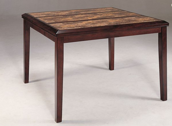 Belvedere Espresso Wood Marble Counter Height Table HE-3276-36