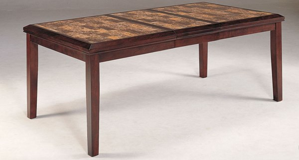Belvedere Espresso Wood Faux Marble Dining Table HE-3276-78