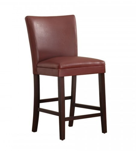 2 Belvedere Lava Red Wood Vinyl Counter Height Chairs HE-3276R-24
